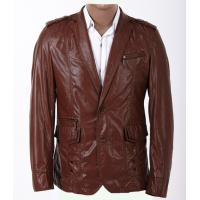Buy cheap 100% Viscose and Knitting, Black / Dark Red, Size 50, Size 54 Fashion Mens Leather Blazers product