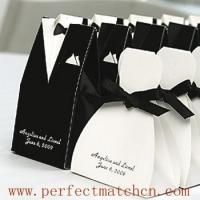 Buy cheap Tuxedo and Wedding Gown Favor Box (PM-FB008) from wholesalers