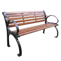 Buy cheap Haoyida wood outdoor bench cast iron garden bench feet from wholesalers