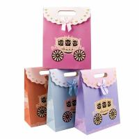 Buy cheap Cute Colorful Cardboard Bag 230g White Cardboard Material Customized Size product