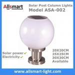 Buy cheap LED Round Solar Pillar Lights White Globular E27 Solar Post Pole Column Light For Community Park School Garden from wholesalers