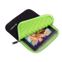 Buy cheap Custom Black / Green Practical Neoprene Kindle Fire Sleeves with EVA Bubble Inner from wholesalers