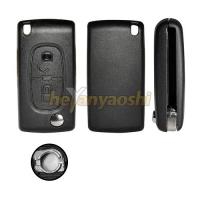 Buy cheap Lock / Unlock Folding Remote Key Shell, 2 Buttons Flip Case for Citroen C2C3 C4 from wholesalers