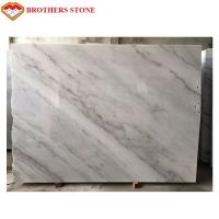 Buy cheap High Polished White Marble Stone Slab 132.8 Mpa Compressive Property from wholesalers