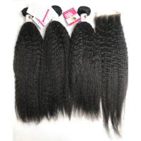 Buy cheap Hot Sale 10A Virgin Kinky Straight Human Hair Peruvian Human Hair Weave from wholesalers