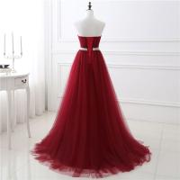 Buy cheap Noble Claret Color Ladies Evening Dresses For Women , Long Evening Gowns product