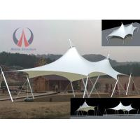 Buy cheap Cable Membrane Patio Shade Structures , Steel Roof Contemporary Shade Structures For Square from Wholesalers