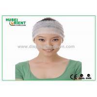 Buy cheap Comfortable Elastic Female Disposable Headbands White Nonwoven from wholesalers