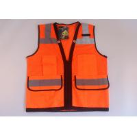 Buy cheap Multi-function pocket mesh and tricot fabric high vis vest reflective safety clothes product