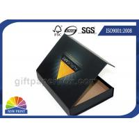 Buy cheap Matte Black Paper Gift Box Paper Packaging Box Customized Glossy from wholesalers