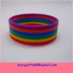 Buy cheap rainbow link bracelet silicone wristbands,silicone bracelet wristband from wholesalers