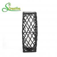 Buy cheap Garden Patio Rattan Solar Post Lights , Wicker Outdoor Solar Lights LED Powered from wholesalers