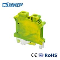 Buy cheap JUSLKG 6N Yellow Green Din Rail Terminal Block Connector Ground Modular Screw Connecting Phoenix Contact from wholesalers