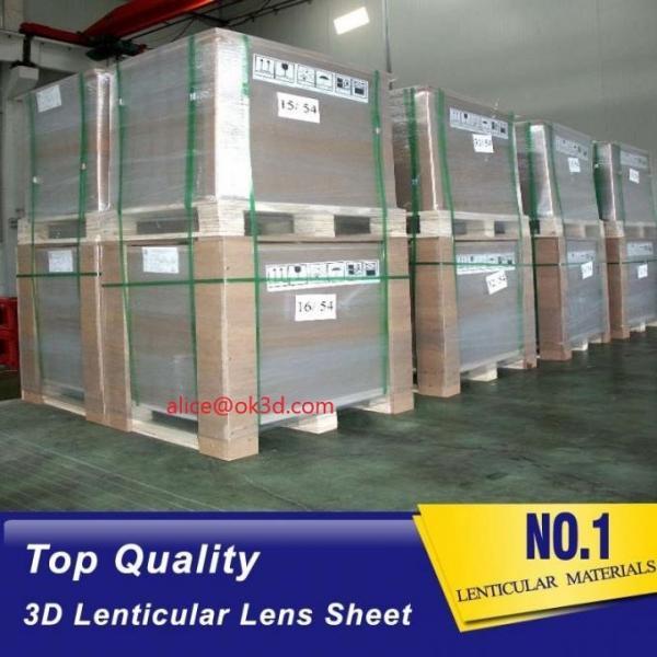 Buy cheap Injekt print / UV print material 75LPI 0.45mm Lenticular Lens Sheet material with good Lenticular Printing Effect from wholesalers