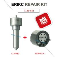 Buy cheap ERIKC 7135-661 fuel injector repair kits set L137PBD + 9308-621C valve and nozzle 9308 621c for EJBR02901D EJBR03701D from wholesalers