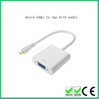 Buy cheap Good quality Micro High-Definition Multimedia Interface TO VGA Adapter Converter Cable from wholesalers