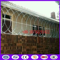 Buy cheap 500mm coil diameter flat panel razor wire for wall top installation from wholesalers
