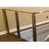 China Modern stainless steel terrace designs cable railings on sale