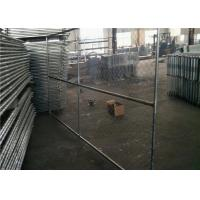 Buy cheap Vinyl Coated Temporary Chain Link Fence Galvanized Wire 50x50mm Mesh Size from wholesalers