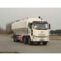 Buy cheap FAW 8*4 J6M 40cbm bulk granulated feed transportation truck for sale, best price FAW brand 20tons-25tons feed truck from wholesalers