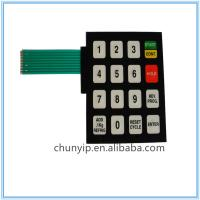 Buy cheap digital membrane keypad switch with pet circuit from wholesalers