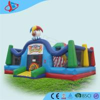 Buy cheap Clown commercial bouncing castles for rent / green Inflatable fun city from wholesalers