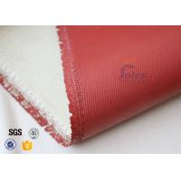 Buy cheap 1200℃ Red Silicone Coated High Silica Fabric For Thermal Insulation Materials from wholesalers