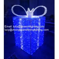 Buy cheap outdoor led christmas gift boxes from wholesalers