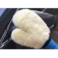 Buy cheap Household White Car Wash Hand Gloves , Lambswool Car Wash Mitt 26.5 X 21 Cm from wholesalers