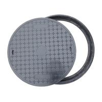 China Dual Locking Solid Top Round Manhole Covers Cast Iron BS EN124 Standard on sale