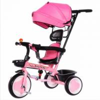 Buy cheap Hot Sell  High Quality pink/blue color Baby Tricycle with pushbar made in China from wholesalers