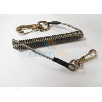 Zinc Swivel Snap Hooks Plastic Coil Lanyard With Steel 4MM Line Diameter