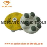 Buy cheap 6 Dots 60mm Resin Bonded Polishing Pads Pucks for Concrete Marble from wholesalers