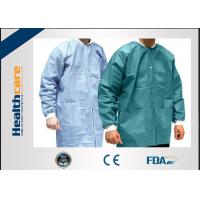 Buy cheap ISO CE FDA Breathable Disposable Lab CoatsMedical ScrubsLightweight With Knitted Collar from wholesalers