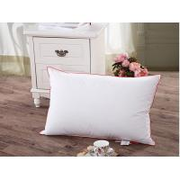 Buy cheap 75% Duck Down Feather Pillow Cotton Red Piping For Home Hotel Pillow Insert from wholesalers