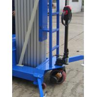 Buy cheap 300Kg Load Aerial Work Platform With Pulling Device Multi Mast 10m from wholesalers