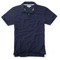 Buy cheap Wide Collar Men's Summer Polo Shirts , 100% Heavy Washed Cotton Polo Collar T Shirt from wholesalers