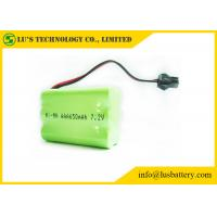 Buy cheap 7.2V 650mah AAA Nickel Metal Hydride Rechargeable Batteries With Green PVC product