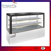Buy cheap Fan Cooling Catering Display Cabinets With Glass Doors / Cake Fridge Display from wholesalers
