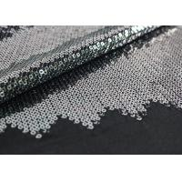 Buy cheap Embroidered Mesh Lace Fabric With Silver Sequin , Bridal Lace Fabric By The Yard from wholesalers