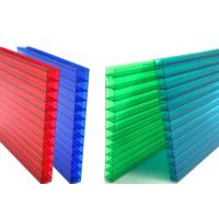 Buy cheap 16mm Fourwall Colored Hollow Polycarbonate Sheet Ten Years Guarantee from wholesalers