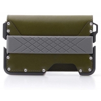 Buy cheap Modern Top Quality Factory Supply Stamping CNC Lathe Machining RFID Blocking Green Genuine Leather Aluminum Wallets from wholesalers