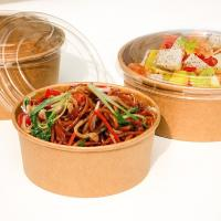 Buy cheap Disposable durable thickness warp up bowl for fast food to-go box fruit salad with clear lid product