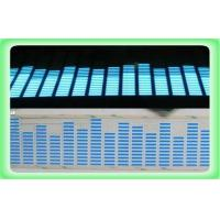 Buy cheap Blue EL Car Sticker Sheet CE ROHS / Sound Music Activated Car Stickers Equalizer from wholesalers