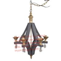 Buy cheap YL-L1006 Decorative industrial Retro Pendant Light Cafe Restaurant Hanging Light Wood Chandelier from wholesalers