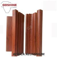 Quality 1.4 Thickness Flat Wood Finish Aluminium Profiles Strong Impact Resistance for sale