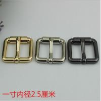 Buy cheap Bag Parts Accessories Zinc Alloy Shiny Gold 25 MM Roll Pin Belt Buckle For Sales from wholesalers