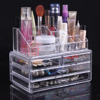 Buy cheap Large Acrylic Makeup Organizer With Drawers Clear Cosmetic Cases from wholesalers
