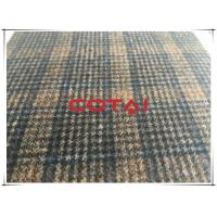 Buy cheap Light Weight Dark Vintage Plaid Wool Fabric In Stock , Autumn Jackets Wool Blend Fabric 350g/m from wholesalers