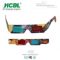 Folding Red And Blue Paper 3d Glasses For Three - Dimensional Book / 3D Picture